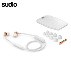 Developed from the VASA range, Sudio have removed the wired connection to create the VASA BLA Earphones in white and rose gold. Featuring a Bluetooth connection, these elegant earphones are perfect for hands-free calling and to enjoy your music on the go.