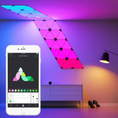 Unleash your creativity with the Aurora Smarter Kit from Nanoleaf. Containing nine Smart LED panels to create a unique design, you'll be able to set the perfect mood. Compatible with iOS and Android, customise the Aurora with various colours and speeds.
