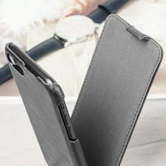 Caseual Lederhülle iPhone 7 Flip Cover in Italian Schwarz