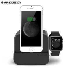 This attractive, convenient charge dock for iPhone and Apple Watch keeps your devices close at hand and fully charged, while allowing full access to all features and functions. Cards, cash, ID and other objects can be kept in the handy slots at the back.
