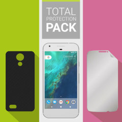Guard your beautiful Google Pixel from damage with the Olixar Total Protection Pack. Featuring an ultra-thin protective gel case and an ultra-responsive glass screen protector, this pack provides the ultimate in lightweight protection.