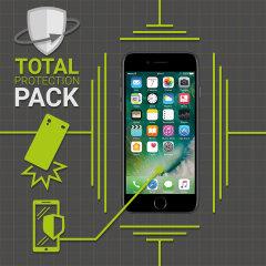 Protégez votre magnifique iPhone 7 Plus des dommages occasionnels du quotidien grâce au pack Olixar Protection Totale. Ce pack est constitué d'une coque ultra fine et d'une protection d'écran en verre trempé. En soit, ce pack offre à votre smartphone une protection complète, légère et très efficace.