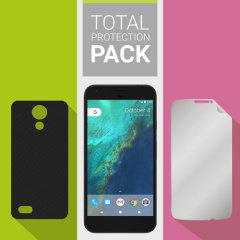 Guard your beautiful Google Pixel XL from damage with the Olixar Total Protection Pack. Featuring an ultra-thin protective gel case and an ultra-responsive glass screen protector, this pack provides the ultimate in lightweight protection.