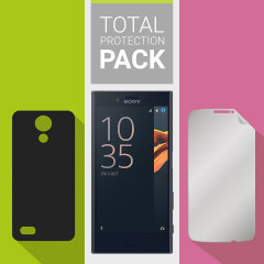 Guard your beautiful Sony Xperia X Compact from damage with the Olixar Total Protection Pack. Featuring an ultra-slim clear case and an ultra-response glass screen protector in black, this pack provides the ultimate in lightweight protection.