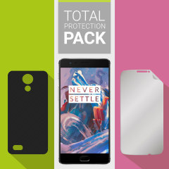 Skydda din vackra OnePlus 3T / 3 från skador med Olixar Total Protection Pack. Med ett tunnt polykarbonat skal och ett ultra-respons glasskärmskydd ger denna färpackning det ultimatat skyddet.