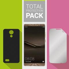 Bescherm je mooie Huawei Mate 9 tegen schade met deze Olixar Total Protection Pack. Met een ultra-slim case en een ultra-respons glas screen protector zal deze pakket je het ultieme in lichtgewicht en bescherming bieden.