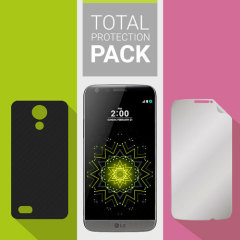 Guard your beautiful LG G5 from damage with the Olixar Total Protection Pack. Featuring an ultra-thin protective gel case and 2 ultra-responsive screen protectors, this pack provides the ultimate in lightweight protection.