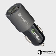 4Smarts Rapid Qualcomm 2.0 Dual USB Car Charger - Grey