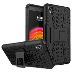Bescherm je LG X Power met deze Olixar ArmourDillo beschermhoes, bestaande uit een innerlijke TPU case en een slagvast exoskelet met ingebouwde standaard voor het bekijken van media.