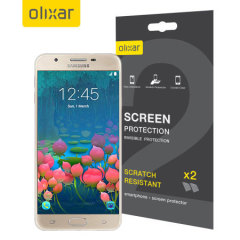 Keep your Samsung Galaxy J5 Prime's screen in pristine condition with this Olixar scratch-resistant screen protector 2-in-1 pack.