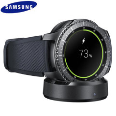 Charge your Samsung Gear S3 Classic or Frontier Smartwatch safely while docked with the official Samsung Gear S3 Wireless Charging Dock and Charger.
