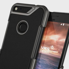 Protect your Google Pixel XL with this precisely designed case in black from VRS Design. Combining a leather-style material around a tough polycarbonate frame, this slim case is certain to add to the style of your phone.