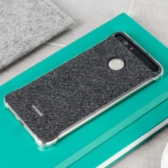 Original Huawei Nova Plus Fabric Hülle in Grau