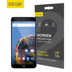 Keep your Wileyfox Swift 2 Plus screen in pristine condition with this Olixar scratch-resistant screen protector 2-in-1 pack.