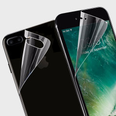Keep your iPhone 7 Plus in pristine condition all over with this Olixar scratch-resistant full cover TPU screen protector 2-in-1 pack. Features 2 interlocking screen protectors that even cover the top, bottom and sides of your phone.