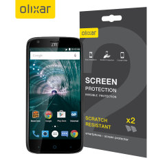 Keep your ZTE Warp 7 screen in pristine condition with this Olixar scratch-resistant screen protector 2-in-1 pack.