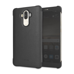 Coque Huawei Mate 9 officielle Style View Cover effet cuir – Noire