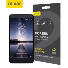 Keep your ZTE ZMax Pro screen in pristine condition with this Olixar scratch-resistant screen protector 2-in-1 pack.
