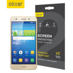 Keep your Huawei Y6 II screen in pristine condition with this Olixar scratch-resistant screen protector 2-in-1 pack.