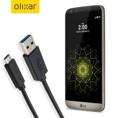 Mantenga su LG G5 cargado y sincronizado gracias a este cable USB-C de Olixar. Ideal para cargar con cualquier cargador de pared o de coche, o para sincronizar con un ordenador o portátil.