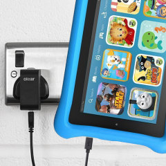 Charge your Amazon Fire Kids Edition quickly and conveniently with this compatible 2.4A high power charging kit. Featuring mains adapter and USB cable.