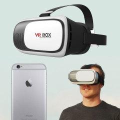VR BOX Virtual Reality Universal iPhone 6S / 6 Headset Weiß / Schwarz
