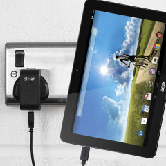 Charge your Acer Iconia tablet quickly and conveniently with this 2.4A high power charging kit. Compatible with all models of the Acer Iconia tablet. Featuring mains adapter and USB cable.
