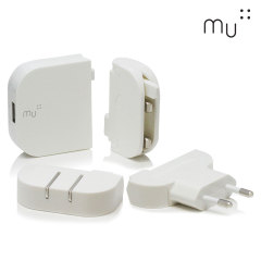 Cargador de red 2.4A MU System Worldwide Traveller USB - Blanco