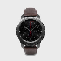 Treat your Gear S3 smartwatch to something luxurious with the D6 Genuine Minerva Box Leather strap from SLG Design in brown. Comfortable, fashionable and perfectly suited to the Gear S3, this strap is a major upgrade on your regular strap.