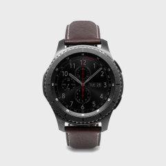 Mime su nuevo smartwatch Gear S3 con la lujosa correa D6 Minerva Box de SLG. Cómoda, duradera y elegante, esta correa es la manera perfecta de personalizar su Gear S3.