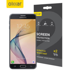 Keep your Samsung Galaxy J7 Prime screen in pristine condition with this Olixar scratch-resistant screen protector 2-in-1 pack.