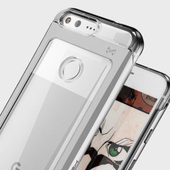 Ghostek Cloak 2 Google Pixel XL Aluminium Tough Case - Clear / Silver
