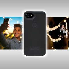 Introducing the newly designed Lumee Two case in black for iPhone 7 / 6S / 6. Moving on from the original, this new design is brighter and slimmer, meaning you can take even better selfies.