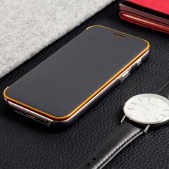Offizielle Galaxy A3 2017 Neon Flip-Cover Wallet - Schwarz