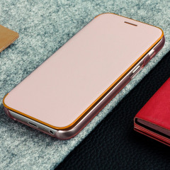 Offizielle Galaxy A3 2017 Neon Flip-Cover Wallet - Rosa
