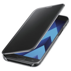 Original Samsung Galaxy A5 2017 Clear View Cover Case in schwarz