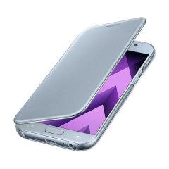 Original Samsung Galaxy A5 2017 Clear View Cover Case in Blau