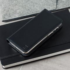 Olixar Genuine Leather Samsung Galaxy A3 2017 Wallet Case - Black