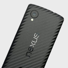 Enhance your Google Nexus 5's smooth, sleek appearance with this premium carbon fibre-style 3D textured skin from Easyskinz. Crafted from the world's finest materials and featuring precision tangential cutting for a perfect fit.
