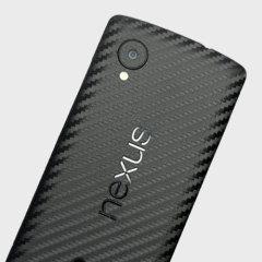 Mejore la apariencia suave y elegante de su Google Nexus 5 con esta funda skin texturizada en 3D como si fuera fibra de carbono de Easyskinz. Fabricado con los mejores materiales del mundo y con corte tangencial de precisión para un ajuste perfecto.
