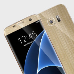 Easyskinz Samsung Galaxy S7 Edge Brushed Metal Skin - Champagne Gold