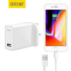 Ladda din iPhone 7 Plus eller någon annan USB-enhet snabbt och bekvämt med denna 2.4A högeffekts lightening kompatibla UK laddnings kit. I kittet ingår en UK väggadapter och lightening-kabel.