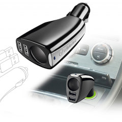 Cellular Line Triple Power In Car Charging Adapter with 2x USB Ports