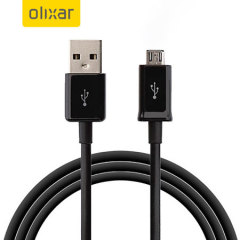 Olixar Samsung Galaxy S7 Micro USB Sync & Charge Cable - Black