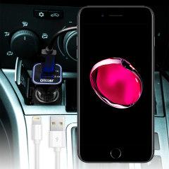 Maintenez votre iPhone 7 Plus complètement chargé sur la route à l'aide de ce chargeur voiture Lightning Olixar. Doté d'une puissance de 2.4A et d'un cordon en spirale, vous pourrez charger rapidement et efficacement votre smartphone. Point supplémentaire non négligeable, ce chargeur voiture intègre un port USB standard, celui-ci vous permettra d'y raccorder n'importe quel appareil compatible USB.
