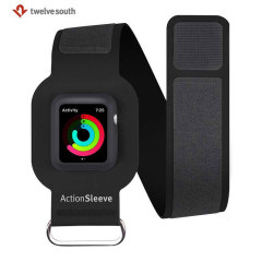 Twelve South ActionSleeve Apple Watch Armband - Black - 42mm