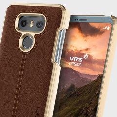 VRS Design Simpli Mod Leather-Style LG G6 Case - Brown