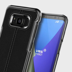 VRS Design Simpli Mod Leather-Style Samsung Galaxy S8 Case - Black