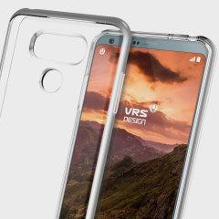 VRS Design Crystal Bumper LG G6 Hülle - Stahl Silber