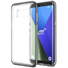 VRS Design Crystal Bumper Samsung Galaxy S8 Plus Case - Steel Zilver
